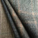 Tela de las lanas del tartán de la adaptación, tela Worsted del tartán, tela de mezcla del poliester de las lanas