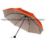 Guarda-chuva Windproof de três dobras da impressão cheia da transferência térmica com tela UV (FU-3821BWD)