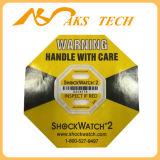 포장 레이블에 있는 내진성 자동 접착 Shockwatch