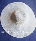 Chapeau souple de tresse de mode avec le grand bord pour Madame