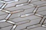 2017新しいデザインシェルの組合せの大理石のガラスモザイク壁のタイル
