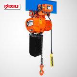 Geschwindigkeits-elektrische Kettenhebevorrichtung der Verdoppelungs1.5t mit manueller Laufkatze