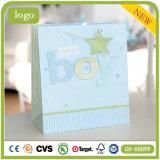 Bolsa de papel verde del regalo del arte del almacén de ropa del bebé