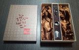 卸し売り熱い押された浮彫りになるカスタムロゴのワインボックス