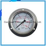 高品質のステンレス鋼圧力メートルか縁を付けられた圧力計