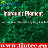 Pigmento inorgánico en verde el 17 de tinta
