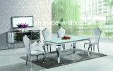 Glace de meubles de salle à manger/premier Tableau dinant acier inoxydable en bois/marbre