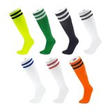 Rayures haute genou unisexe Double Athletic Football de soccer de chaussettes de tube