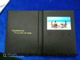 "A5 까만 PU 5 "" LCD 브로셔 영상 우송자 명함"