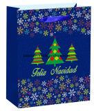 Custom бумагу отпечатанной Рождество в подарочной упаковке магазины подарков держателя подушки безопасности