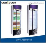 Single-Door Showcase, heladera, Nevera, en posición vertical refrigerador vitrina para la cerveza de vidrio