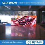 P3.91mm Die Casting Display LED fixo no interior de alumínio com 500*500mm cabinet