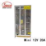 Mini bloc d'alimentation de commutation de taille de Smun as-250-12 12VDC 20A 250W
