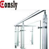 Acero inoxidable que cerca el poste al aire libre de la barandilla con barandilla de la cerca del vidrio/barra para la cubierta /Balcony /Stair