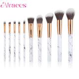 10pcs de mármol de maquillaje profesional Brush set