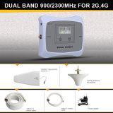 Amplificateur mobile à deux bandes intelligent de signal de téléphone cellulaire de servocommande du signal 900/2100MHz