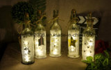 Estrella 3D las botellas de vino de luz LED de Navidad