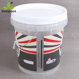 10 Liter-freier Raum gedruckte Plastikwanne mit weißer Kappe