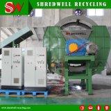 Eixo Duplo primário para os resíduos retalhados fábrica de Reciclagem de Pneus