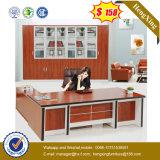 L 모양 강철 다리 디자인 오크 색깔 사무실 테이블 (UL-MFC580)