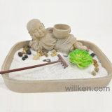 Le sable de jardin de Zen oscille le cadeau Relaxing de décor de maison de support de bougie