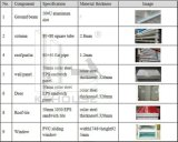 """Chambre modulaire en acier de panneau """"sandwich"""" de couleur légère de la structure métallique House/EPS"""
