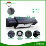 Angeschaltene Bewegungs-Solarwand beleuchtet Stretchable helle Sicherheits-drahtloses Bewegungs-Fühler-Licht des Infrarot-71 LED