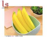 Pochette portative de poche de sac de crayon lecteur de silicones de banane de nouveauté de trousse d'écolier de bourse de pièce de monnaie
