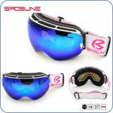Lunettes faites sur commande de ski en verre interchangeables de lentille de lunettes de ski de bâti de myopie