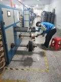 cable de gota de 2.0*5.2m m FTTH LSZH con el miembro del mensajero del alambre de acero y de fuerza de FRP