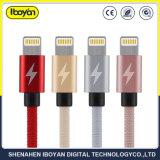 Kundenspezifisches Länge USB-Daten-Blitz iPhone Aufladeeinheits-Kabel