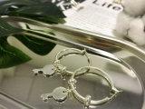 Подгонянная серьга OEM множественная шикарная латунная Coppery ключевая в серебряном цвете
