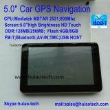 """O OEM 5.0"""" Carro elevador Marine navegação GPS com navegador GPS de Wince 6.0, transmissor FM, AV-na câmara traseira, Sistema de Navegação GPS do dispositivo portátil"""