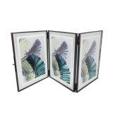 Het Ontwerp van de douane Drie van het Leuke van het Glas Vouwen Frame van de Foto (pf-1001A)