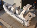 Barco inflável Tourist do barco do reforço da fibra de vidro de Liya 17feet para a venda