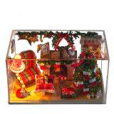 Игрушка подарка рождества DIY миниая деревянная
