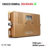 Amplificateur mobile à deux bandes de signal de téléphone cellulaire de servocommande du signal 1800/2100MHz de prix usine