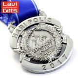 Grabado personalizado de cobre niquelado medallón antiguo