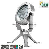 LED RVB de 12*3W à LED Fontaine sous-marin de lumière pour fontaine dans la norme IP68