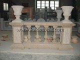 Corrimano bianco/giallo naturale/del granito/balaustra di pietra di marmo per il balcone/scala