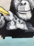 Peinture animale d'art de toile de peinture à l'huile de main pour le décor de mur