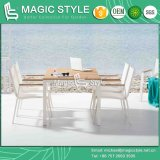 De openlucht Textiel het Dineren Eettafel van de Tuin van de Stoel met het Meubilair van het Hotel van het Terras Polywood van de Stoel (witte het dineren van de Sneeuw reeks)