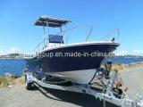 Liya 19feet Fiberglas-Marineboots-AußenbordfischenPanga