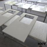 Dispersori quadrati di pietra artificiali bianchi di Undermount della stanza da bagno (171212)