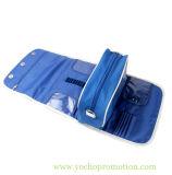 Promozionale rotolare in su il sacchetto dell'estetica della lavata di trucco di disegno