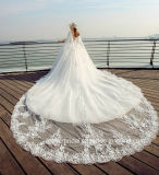 Cordão com mangas Suite Quarto Lace Puffy vestido de noiva Tb418