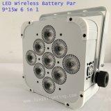 Het draadloze LEIDENE van de Controle 15wx9 van de Batterij Navulbare Draadloze Licht van het PARI