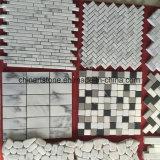 China polierte und zog weiße Marmormosaik-Fußboden-Fliese ab