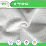 Terry pano de algodão revestimento de PU Tecido protector de colchão impermeável