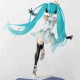 毛のBeautyfulの長い女の子のプラスチック日本製アニメ図モデル